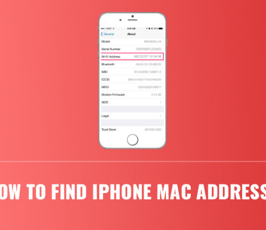 How to Find iPhone Mac Address
