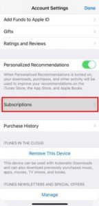 Tap Subscriptions