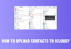How to Upload Contacts to iCloud?