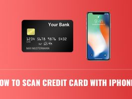scan credit card with iPhone