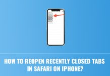 Open Recently Closed Tabs in Safari on iPhone