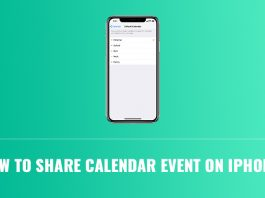 share calendar event on iPhone